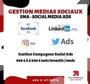 Abonnement mensuel référencement payant SMA PPC Elite 999 à 3 999 € dépenses Google Ads / mois