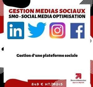 Abonnement mensuel gestion médias sociaux  SMO Select 1 plateforme