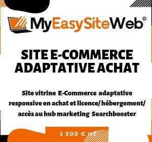Site E-commerce Template Adaptative Design Achat et location