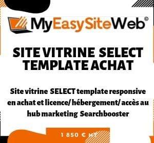 Site Vitrine Select Template Achat et Location