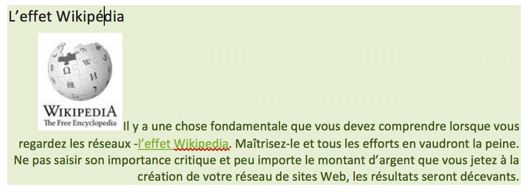 Effet Wikipédia avec un réseau de site multi-sites SeoTaster par Searchbooster